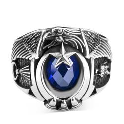 Jandarma Şualı Asker Figürlü Devre Yüzüğü - Thumbnail