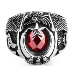 Anı Yüzük - Jandarma Şualı Bozkurt Figürlü Devre Yüzüğü