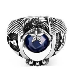 Jandarma Şualı Tek Kartal Başlı Uzman Çavuş Yüzüğü - Thumbnail