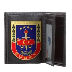 Jandarma Subay Rozetli Klasik Cüzdan Kamuflaj Desen - Thumbnail