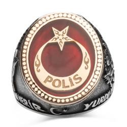 Kahramanlar Polis Gümüş Yüzüğü - Thumbnail