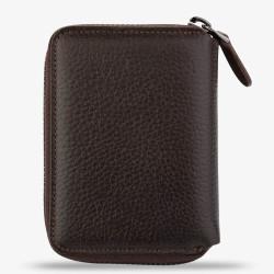 Kahverengi Renk Fermuarlı İsme Özel Kartlık Cüzdan - Thumbnail