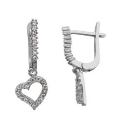 Anı Yüzük - Kalp Figürlü Gümüş Küpe