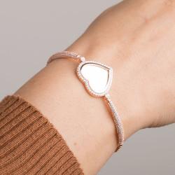 Kalpli İsimli Bayan Gümüş Bileklik - Thumbnail