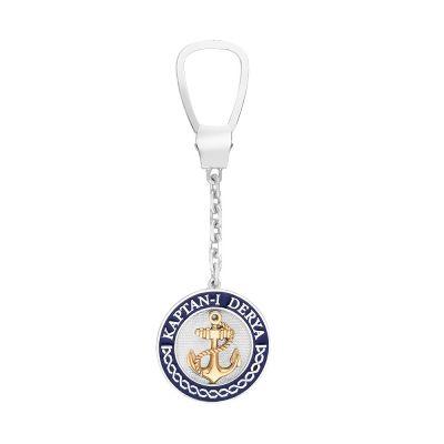 Kaptan-ı Derya 925 Ayar Gümüş Anahtarlık