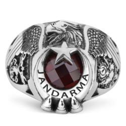 Anı Yüzük - Tek Kartal Başlı Pençeli TSK Jandarma Yüzüğü