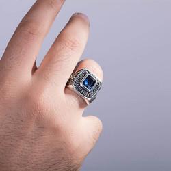 Kare Taşlı Kara Kuvvetleri Yüzüğü - Thumbnail