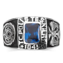 Kare Taşlı Polis Teşkilatı Yüzüğü - Thumbnail