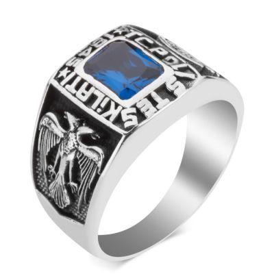 Kare Taşlı Polis Teşkilatı Yüzüğü
