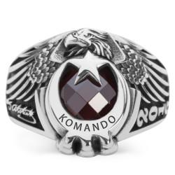 Kartal Başlı Pençeli Komando Yüzüğü - Thumbnail