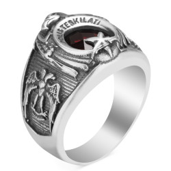 Kartal Başlı Polis Teşkilatı Yüzüğü - Thumbnail