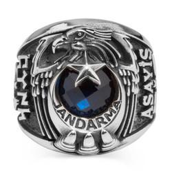 Anı Yüzük - Kartal Başlı Uzman Çavuş Jandarma Asayiş Yüzüğü