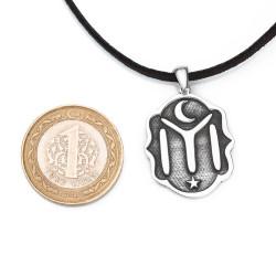 Kayı Boyu IYI Figürlü Gümüş Erkek Kolye - Thumbnail