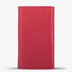 Kırmızı Renk Orta Boy Deri Anahtarlık - Thumbnail