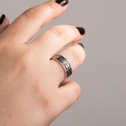 Kişiye Özel 925 Ayar Gümüş İsimli Alyans Çifti - Thumbnail