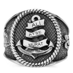 Anı Yüzük - Kişiye Özel Denizci Yüzüğü