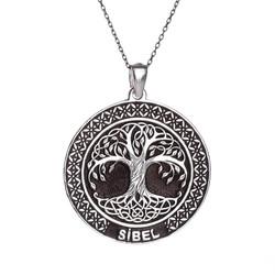 Anı Yüzük - Kişiye Özel İsimli Hayat Ağacı Bayan Gümüş Kolye