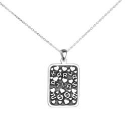 Anı Yüzük - Kişiye Özel İsimli ve Tarihli Bayan Gümüş Kolye