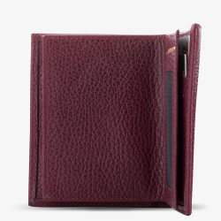 Klasik Model Bordo Rozet Alanlı Deri Cüzdan - Thumbnail