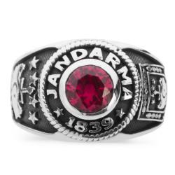 Anı Yüzük - Klasik Tasarımlı Jandarma Yüzüğü