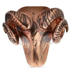 Koç Başı Bronz Erkek Yüzük - Thumbnail