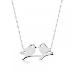 Anı Yüzük - Kuş Motifli Gümüş Kadın Kolye