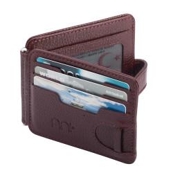 Maliye Bakanlığı Vergi Denetim Kurulu Rozetli Para Tokalı Kartlık Cüzdan Bordo - Thumbnail