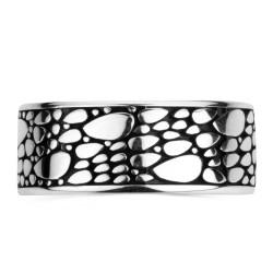 Motifli Gümüş Alyans Çifti - Thumbnail