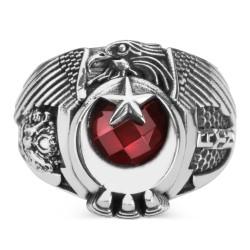 Anı Yüzük - Önce Vatan Yüzüğü (Osmanlı Arması-Göktürkçe Türk)