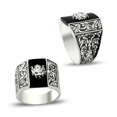 Osmanlı Armalı Erzurum El İşçiliği Gümüş Yüzük