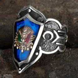 Osmanlı Armalı Zihgir Yüzük - Thumbnail