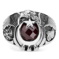 Anı Yüzük - Osmanlı Devleti Tuğra ve Armalı ÇSGB Yüzüğü