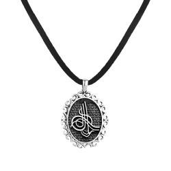 Anı Yüzük - Osmanlı Tuğralı Gümüş Erkek Kolye