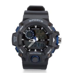 Paracord Örgülü Mavi Detaylı Spor Saat - Thumbnail