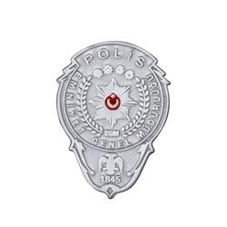 Anı Yüzük - Gümüş Renk Mini Polis Cüzdan Rozeti