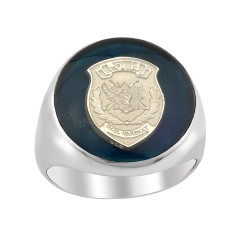 Anı Yüzük - Polis Özel Harekat Amblemli Mineli Gümüş Yüzük
