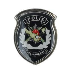 Anı Yüzük - Renkli Polis Özel Harekat Yaka Rozeti