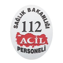 Sağlık Bakanlığı 112 Acil Cüzdan Rozeti - Thumbnail