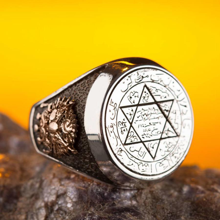 Acheter chevalière sceau de Salomon | Rasta-Lion