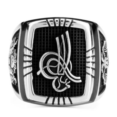 Selçuklu Kartalı Figürlü Gümüş Osmanlı Yüzüğü