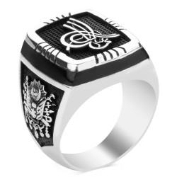 Anı Yüzük - Selçuklu Kartalı Figürlü Gümüş Osmanlı Yüzüğü