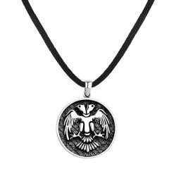 Anı Yüzük - Selçuklu Kartalı Motifli Gümüş Erkek Kolye