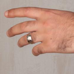 Simetrik Desenli Gümüş Alyans Çifti - Thumbnail