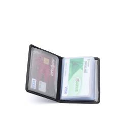 Siyah RFID Güvenli İsimli Kartlık Cüzdan - Thumbnail