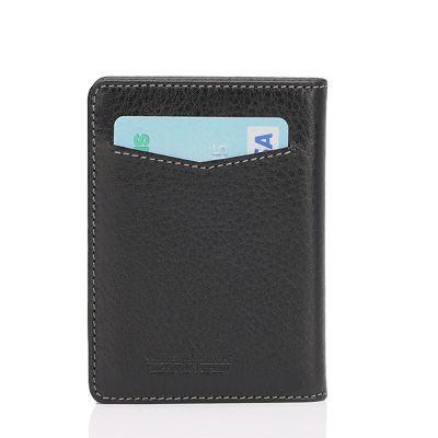 Siyah RFID Güvenli İsimli Kartlık Cüzdan