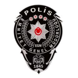 Anı Yüzük - Siyah Renk Polis Cüzdan Rozeti
