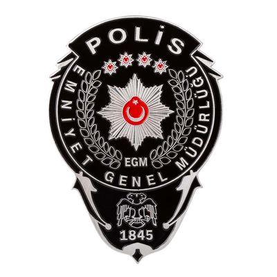 Siyah Renk Polis Cüzdan Rozeti