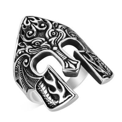 Spartalı Miğferi Gümüş Yüzük