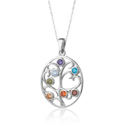 Anı Yüzük - Taşlı Hayat Ağacı Bayan Gümüş Kolye