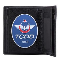TCDD Rozetli Klasik Cüzdan Siyah